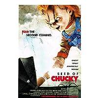 チャッキーホラーの種映画のキャラクターポスター壁アートキャンバスにプリント絵画リビングルームの装飾家の装飾60x80cmフレームなし