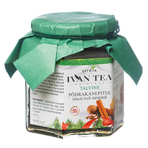 Ivan Winter Tea 50 g | Iwan Tea | Herbal Premium Willow Rose | The Best Gift for New Year | Classic Loose | Herbal Tea Organic | Estvita Pro