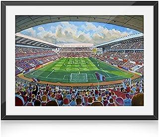 Villa Park del estadio del F.C, shalke Art 10 x 20,32 cm Diseño de tío - Aston Villa FC