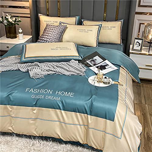 ropa de cama 135x190 3 piezas,Lave la cama de 1,8 m de cama solo cuatro sets, con una cubierta hacia abajo, una cama individual, dos almohadas, habitación de dormitorio, regalo de la habitación para