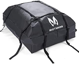 MICTUNING Rooftop Cargo Carrier Bag - Waterproof Car Top Carrier Luggage Storage Bag for Truck SUV Van (15 cu. ft.)