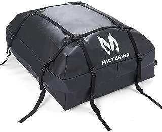 MICTUNING Rooftop Cargo Carrier Bag - Waterproof Car Top Carrier Luggage Storage Bag for Truck SUV Van (15 cu. ft.)