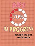 Abs In Progress: Funny Workout Curvy Fitness Sixpack Gym Notebook CollegeRuled / 120 Pages / Large 8.5  x11