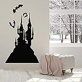 Pegatinas de pared de vinilo de castillo decoración de murciélago lindo para habitación de niños decoración del hogar