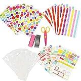 YOTINO Kit de Album de Fotos de Bricolaje, DIY Accesorios Decorativos, Conjunto de Pegatinas de Color, Cintas de Encaje, Cintas Adhesivas, Rincones de Imagen, Pegatinas Decorativas de Cartón