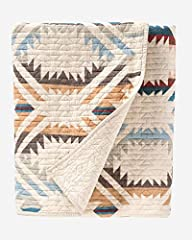 COZY COMFORT–Pendleton brings the gorgeous landscapes of New Mexicowith the White Sands Coverlet set.Cotton quilt is a nod to a creamy landscape of gypsum and sand dunes against a clear blue sky. SET INCLUDES –A perfect quilt for all seasons,Tw...