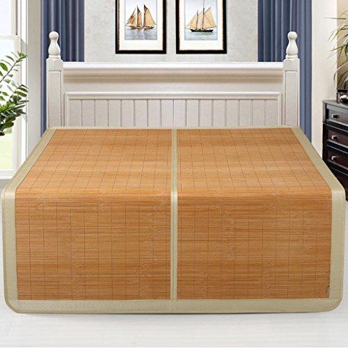 Liuyu · Rush d'été Mat Mats Bambou Glace de Soie Double-face Mat 1.8m Lit 1.5 Mètres Épais Pliant D'été Double Bamboo Mat Double-face Utilisation (sans Taies d'oreiller) (taille : 1.8 m (6 ft) bed)