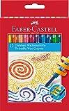 Faber-Castell 120003 - Wachsmalstifte, drehbar, 12 Stück