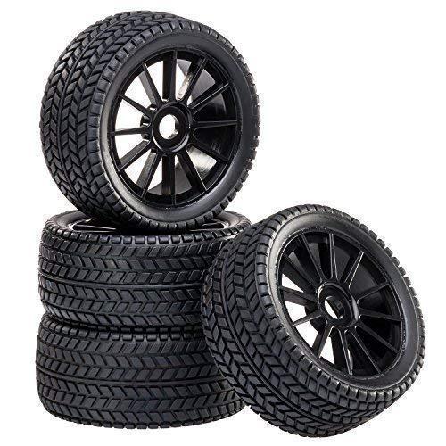 Buggy Reifen Felgenset Street mit 10-Speichenfelge schwarz 1:8 partCore 320020