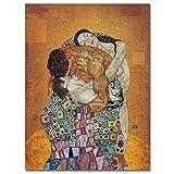 Wzadxy Holzmalerei Leinwanddruck 5D Diy Gemälde Klimt Fotos von Happy Family Number Crafts