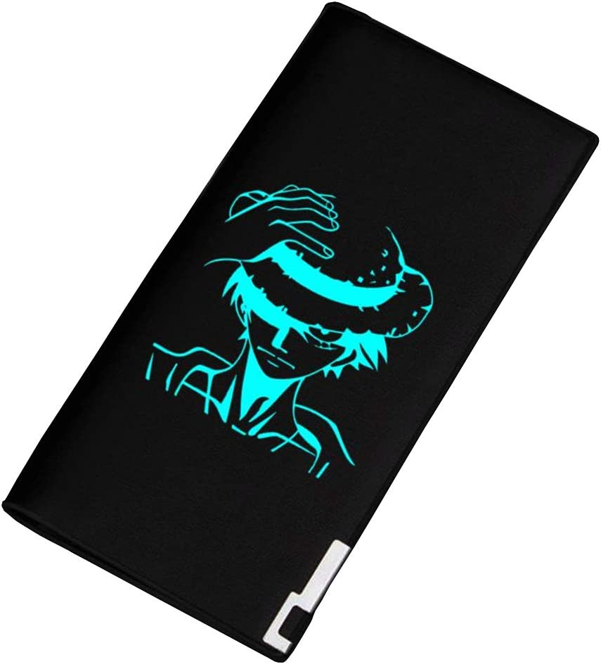 Gumstyle One Piece Anime Luminous Artificial Leather Wallet Billfold Money Clip Bifold Card Holder 12