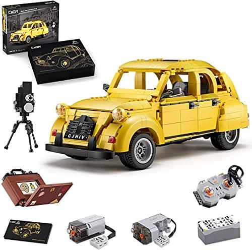 Modelo De TecnologíA De Coche para Citroen 2cv, Cada C61026w, TecnologíA CláSica, con Bloques De Montaje, Compatible con Lego Technic
