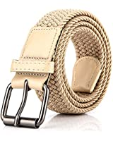 Elastic Braided Woven Belt for Men/Women, 1.3 Inch Stretch Waist Belt for Jeans Pants with Multi Color Size