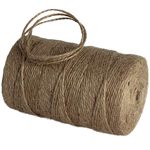 656 Feet Natural Jute Twine Hemp String Christmas Twine String Packing Materials Durable Twine for Gardening