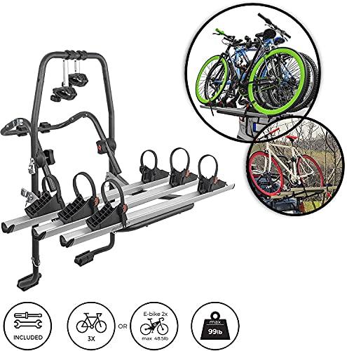 MENABO' STAND UP 3 Portabici Posteriore per 3 biciclette
