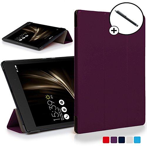 Forefront Hülles ASUS ZenPad 3 8.0 ZT581KL Hülle Schutzhülle Tasche Smart Hülle Cover Stand - Ultra Dünn Leicht R&um-Geräteschutz - Smart Auto Schlaf Wach + Stift (VIOLETT)