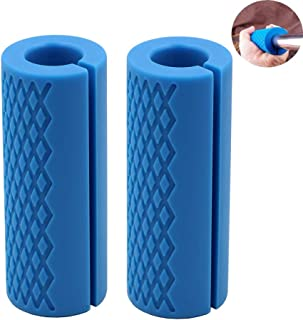 Barbell Grips-Thick Bar Grips for Weightlifting 1 inch-Dumbbell Handles Stress Relieve Alpha Grip Hand Protector Pull up T...