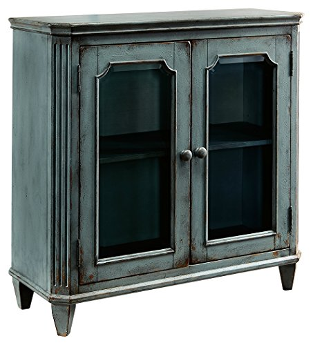 Ashley Furniture Mirimyn Wood Door Accent Cabinet, Blue