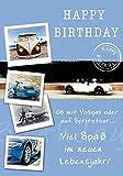 Geburtstagskarte Basic Classic - Autos - 11,6 x 16,6 cm