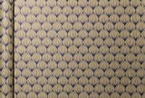 Clairefontaine 223829C - Un rouleau papier cadeau en Kraft brut 70g en 5 m x 35 cm, motif Fleurs bleues