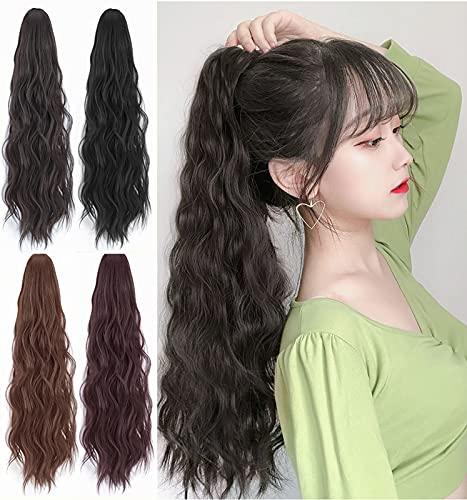 Pequeña peluca de clip, peluca de lana, peluca de maíz de cola de caballo, peluca de peluca de cabello de maíz, pieza de peluca de cola de pelo, cola de caballo de c C-style