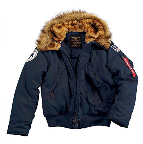 Alpha Polar Jacket Veste Polaire SV, Bleu Foncé, S Homme