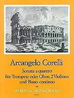 CORELLI - Sonata a Quattro para Trompeta, 2 Violines y BC (Partitura/Partes)