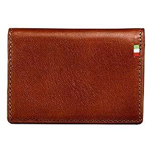 [ミラグロ] パス&カードケース タンポナートレザーシリーズ ブラウン