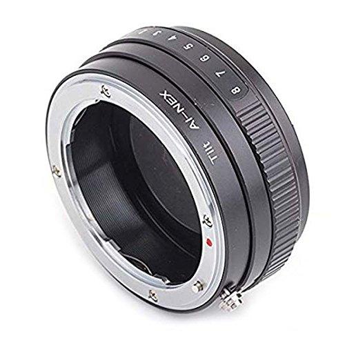 Tilt - Adaptador de Montura Nikon F a Sony E para Cámaras Sony E NEX (NEX-5 NEX-6 A6000 A6300 A7 A7R, etc.)