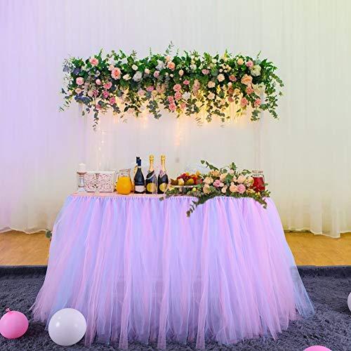 Achicoo Tüll-Tischrock für Party, Hochzeit, Geburtstag, Heimdekoration, 80 x 91,5 cm