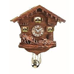 Trenkle Kuckulino Black Forest Clock Swiss House with Quartz Movement and Cuckoo Chime TU 2031 PQ