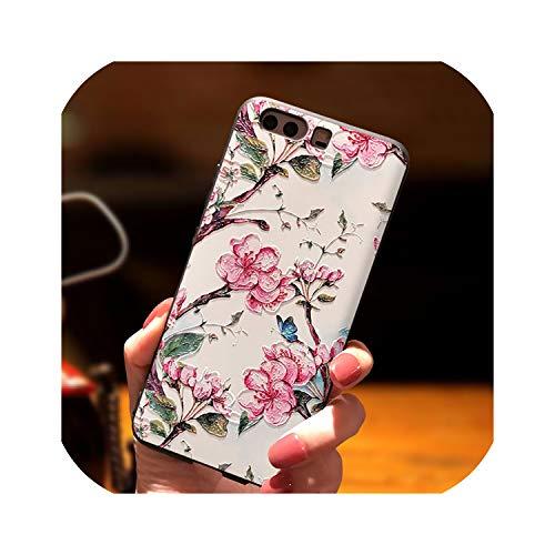Alivio 3D Cherry Blossoms Coque para TPU Sam-Sung Galaxy A50 S8 S9 Plus S10E S6 S7 Edge Lite Note 8 9 M10 M20 M30 A30 A40 A70 Funda