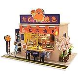 Septiembre-1: 24 Escala Estilo Japonés Takoyaki Tienda Modelo Miniatura Casa de Muñecas Kits para...