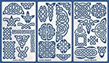 Aleks Melnyk #37 Plantillas Stencils de Metal para estarcir/Nudo Celta, Geometricos/para Arte Manualidades y decoración/Plantillas para Estarcidos/para Pintar con Aerógrafo/3 piezas/Bricolaje, DIY