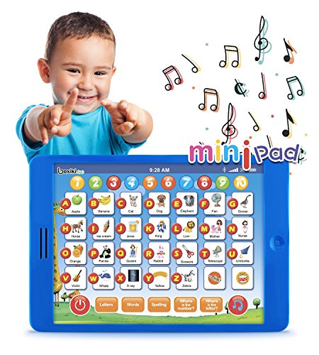 "Boxiki kids Learning Pad Fun Kids Tablet with 6 Toddler Learning Games Early Child Development Toy for Number Learning, Learning ABCs, Spelling, ""Where is?"" Game, Melodies. Educational Toy"