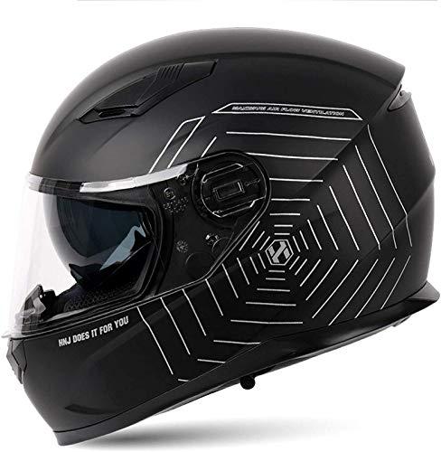QDY Casco Modular de Cara Completa para Motocicleta Aprobado por Dot - Casco abatible de Carreras de Bicicletas de Calle con Visera Solar y Espacio Bluetooth para Adultos, jóvenes, Hombres y