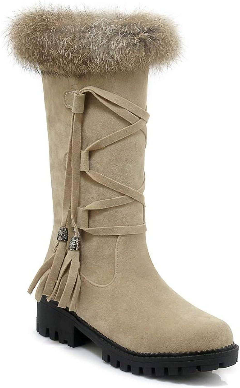QINGMM Frauen Plüsch Schnee Stiefel 2018 Herbst Winter Plattform Spitze Quaste Stiefel Outdoor Baumwolle Stiefel,Polieren,39 EU    Online einkaufen    Bekannt für seine schöne Qualität    Am praktischsten