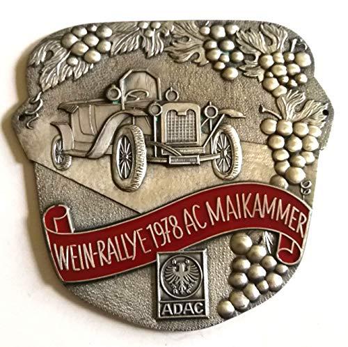 Generisch Plakette Wein Rallye 1978 AC Maikammer ADAC Emblem Andenken Sammler