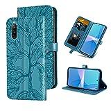 Auslbin für Sony Xperia 10 III Hülle,Handy Lederhülle PU Leder Hülle Brieftasche Handytasche Cover Kompatibel für Sony Xperia 10 III Ledertasche,Blau