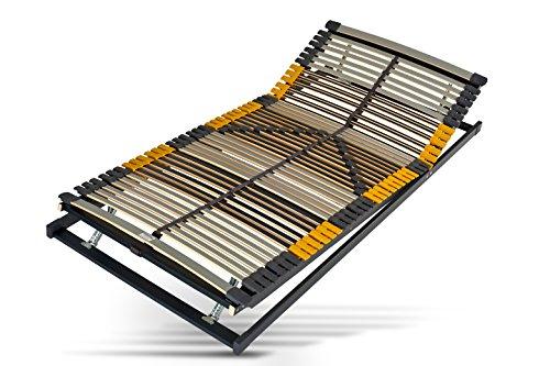 Hilding Sweden Lattenrost, 80 x 200 cm, mit 44 Latten aus Holz (Kopfteil und Fußteil verstellbar), Fertig montiert, Geeignet für alle Matratzen, Härtegrad 9-fach justierbar