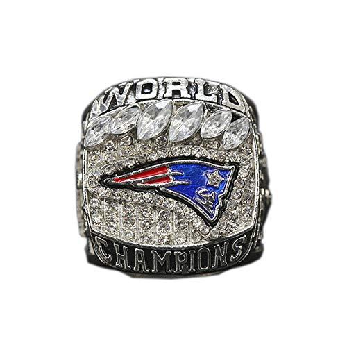 WSTYY 2018 New England Patriots Championship Ring Campeonato Anillo para los fanáticos de los Hombres de la colección Regalo de visualización campeón del Recuerdo de réplica,Without Box,10#