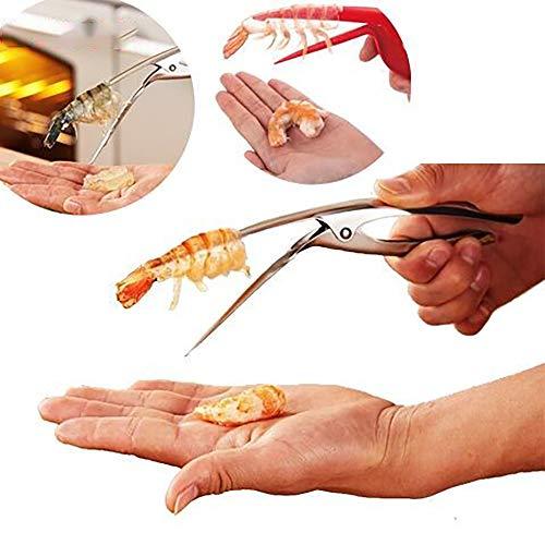 3- Eleductmon Premium Stainless Steel Shrimp Deveiner