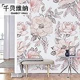 Estilo Europeo Estilo Ikea Hermoso Diseño Creativo Revestimiento De Paredes Papel Tapiz Sala De Estar Sofá Tv Fondo Pintura De Pared-300 * 210Cm