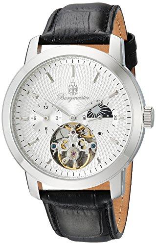 Burgmeister Herren Analog Automatik Uhr mit Leder Armband BM225-112