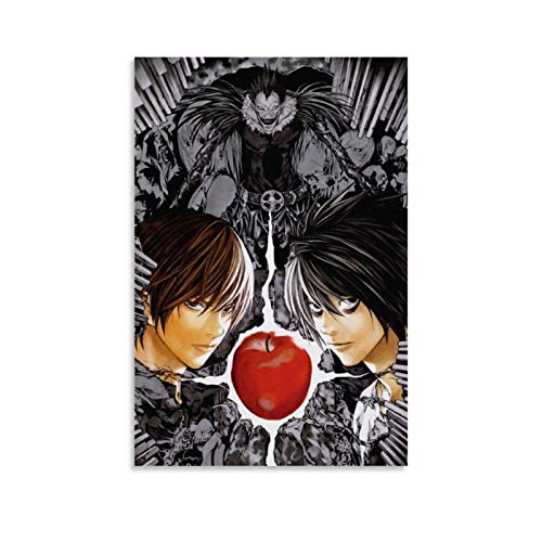 Death Note 1 Póster de anime japonés y arte de pared, impresión moderna, para decoración de dormitorio familiar, 30 x 45 cm