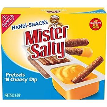 Handi-Snacks Mister Salty Pretzels  N Cheese Dip 6 - 0.92oz packs
