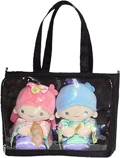 Ita Bag Tote Bag Itabags Transparent Shoulder Bag Anime Bag Decorable Clear Bag (Black)