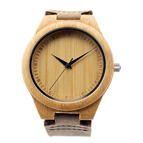 Reloj de madera natural hecho a mano...