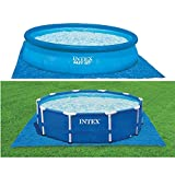 Intex 58932 Easy-Frame Tappetino Base per Piscine, Blu, 472 x 472 cm...