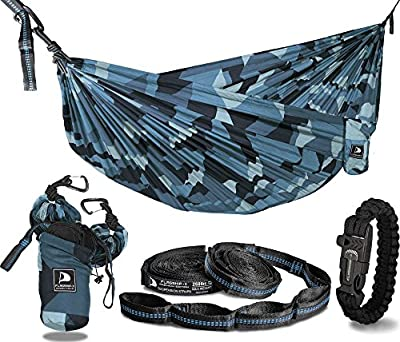 Flagship-X Urban Camo Double 2 Person Camping Hammock Packable for Backpacking - Camouflage …